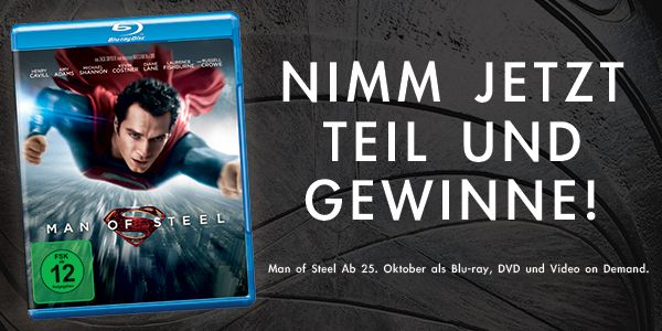 Man of Steel - Blu-ray zu gewinnen!